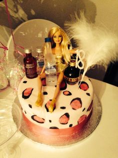 Birthday cake I had made for my daughters 21st birthday I added
