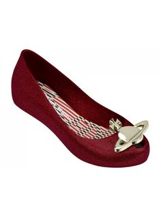 VW Ultragirl Red Glitter Orb | Vivienne Westwood + Melissa Shoes | NONNON.co.uk
