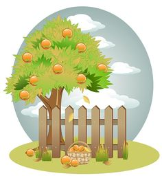 Vector, Background, Spring, Winter, Summer, Autumn