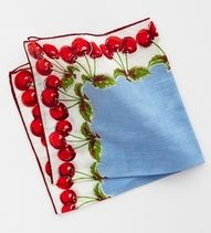 Vintage handkerchief with cherries border.so cheerful! Vintage Handkerchiefs, Vintage Tablecloths, Cherry Baby, Cherry Cherry, Cherry Blossom, Cherries Jubilee, Textiles, Martha Stewart Weddings, Linens And Lace