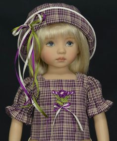 "Plaid Pleats for 13"" Dianna Effner Little Darling Studio Dolls by Melanie 