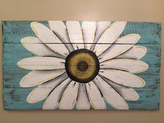 This is a made-to order reclaimed wood floral sign from an old pallet. You can choose colors or add personalization options. It is available as 40 x16 or 45x16 or 40x22 (dimensions can vary up to 1) Painted with a colorful sunflower . Completion time can vary from 3 days to 3 weeks depending on time of year. Just contact me and I can give you a completion date.  Smaller size available via this link https://www.etsy.com/listing/264331612/reclaimed-wood-art-sunflower-si...