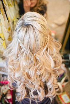 ♥ #beach #wedding #hair | Coiffure de mariage