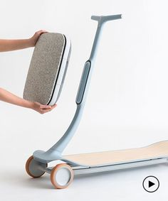 steer and accelerate by leaning on this nimble electric scooter - Industrial Design - Babies R Us, Scooters, Monocycle, Agile, Wave Design, Transportation Design, Layers Design, Electric Cars, Minimal Design