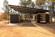 Container House / Plannea Arquitectura + Constanza DomÍnguez C. Shipping Container Home Designs, Container House Design, Shipping Containers, Container Cabin, 40ft Shipping Container, Shipping Container Conversions, Shipping Container Buildings, Cargo Container, Different Types Of Houses