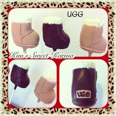 UGG Boot cake pops. https://www.facebook.com/Kimssweetkarma