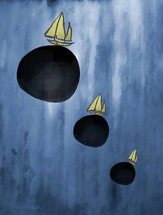 Sailing your Dreams - by Grimalkin Studio / Kandy Hurley  #abstract #minimalism #art @grimalkinart