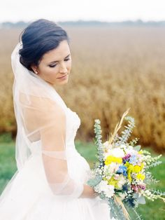 classic bridal look, photo by Sarah Der Photography http://ruffledblog.com/rustic-virginia-wedding #bridal #hair #weddinghair