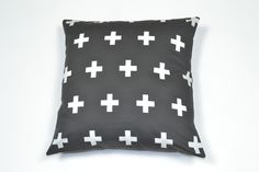 Cushion Black White Crosses - kleababy