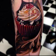 Nikko Hurtado -this might be my favorite cupcake tattoo