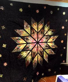 Lone Star Quilt Pattern, Log Cabin Quilt Pattern, Star Quilt Patterns, Star Quilts, Quilting Projects, Quilting Designs, Jellyroll Quilts, Scraps Quilt, Stained Glass Quilt