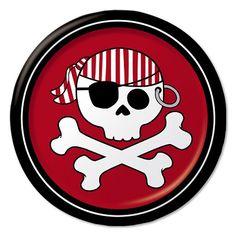 Pirat paptallerken 18 cm