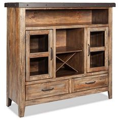 Rustic Buffet With Removable Bottle Storage I Www.wolffurniture.com