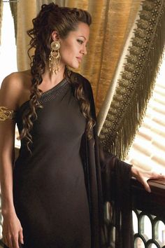 American actress Angelina Jolie as Queen Olympias, the mother of Alexander the Great, in Alexander, a 2004 epic historical drama film. Description from pinterest.com. I searched for this on bing.com/images