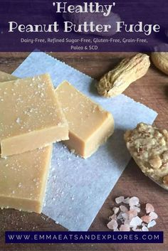 Healthy Peanut Butter Fudge – Refined Sugar-Free – Emma Eats & Explores Healthy Peanut Butter Fudge by Emma Eats & Explores – Sugarfree, Dairyfree, Grainfree, Glutenfree, Paleo & SCD Healthy Treats, Healthy Desserts, Easy Desserts, Delicious Desserts, Dessert Recipes, Yummy Food, Healthy Fudge, Paleo Dessert, Candy Recipes