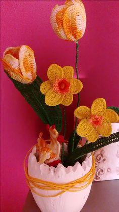 szydełkowe kwiaty autorstwa Anna Borowczyk