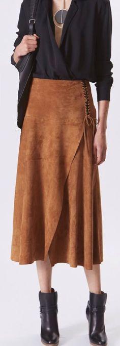 Khaki Plain Drawstring Fashion Spandex Skirt