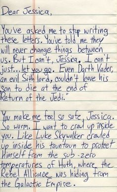 Star Wars Love Letter... lol