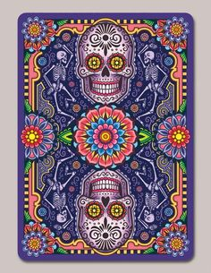 Second Edition of playing cards based on the art and tradition of Dia de los Muertos, designed by Edgy Brothers and printed bv USPCC