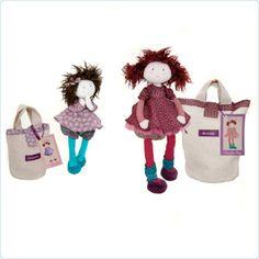 Moulin Roty Les Coquettes Puppe Louison 28 cm mit Tasche -www.lolakids.de