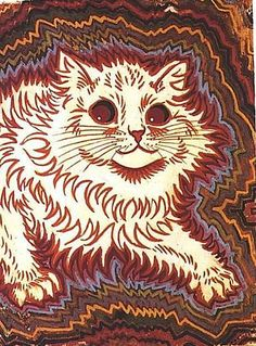 THE PSYCHEDELIC MADNESS OF LOUIS WAIN'S CATS  http://dangerousminds.net/comments/the_psychedelic_madness_of_louis_wains_cats  UU11lswn11UU.jpg