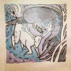 Перерисовка на бумаге. Патронус. Поттер. Диментр. #folktaleweek #dementor #garrypotter #patronus #willborg #art #funart #traditionalart