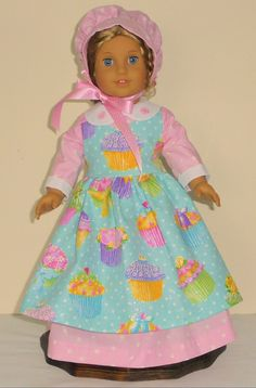 Colonial Easter Dress designed for American Girl Felicity,Elizabeth or Kirsten 3 pc.. No. 705 by MargaretteDesigns4AG on Etsy