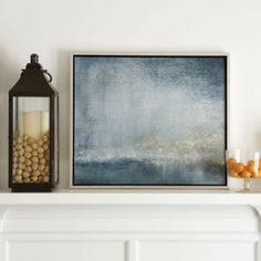 This is what I was talking about when I described a more modern method of framing for abstract art. Modern details like this give a contemporary edge to more traditional furnishings/design. Twilight On The Seine Abstract Art | Ballard Designs