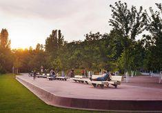 Sonnenuntergang im Park am Gleisdreieck (Bild: Julian Lanoo)