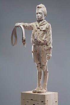 Gehard Demetz - For my fathers, 2009, 260 x 51 x 90 cm