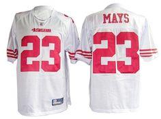 Mays White Jersey, San Francisco 49ers #23 Jersey  ID:4884  $20