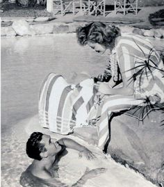 In the early years of their marriage while residing in the Chatsworth Ranch in San Fernando Valley, California, Desi dug out a huge swimming pool, built a bathhouse and held lots of parties there. He embraced life; he was the centre of attention and he enjoyed entertaining people while Lucy was always in the background, rather quiet, with adoring eyes on Desi.