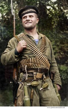 Russian marine Nikolai Garnovskii. August 1941