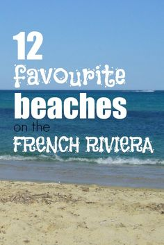 favourite beaches on French Riviera