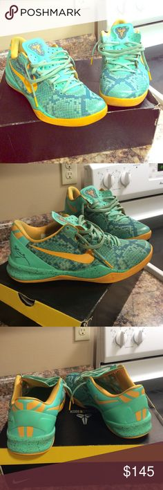 Kobe 8 system Green Glow Here we have a pair of Men's Nike Kobe 8 system. These Sneakers are in mint condition. They were worn only a handful of times. Feel free to ask for more pictures. Buy with confidence Nike Shoes Sneakers