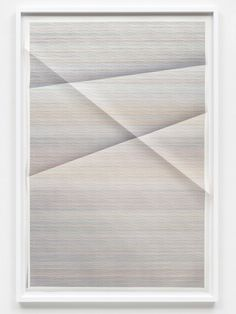 John Houck Untitled #301, 234,255 combinations of a 2x2 grid, 22 colors (from Aggregates series) 2014 creased archival pigment print 152 x 102 cm unique