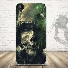 Skull Pattern Case Cover for HTC Desire 530 Soft Silicone Cell Phone Case Cover Ultra Soft TPU Capa Shell for HTC 530 Desire 530