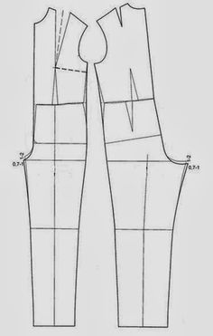 This poster lowers the crotch instead of adding at the waist as I have seen done elsewhere for a jumpsuit, ~ Moldes Moda por Medida: