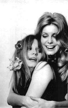 Françoise Dorléac and Catherine Deneuve by Larry Shaw, 1965