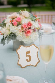 Wedding Table Number by Fort Lauderdale Invitations - Visit our website for ordering information or search for us on Etsy @ Milgrim Designs! Fort Lauderdale * Hollywood * Miami * Palm Beaches * We Ship across the USA!