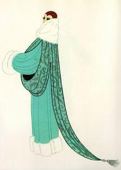 ELEGANCE Chic Original Vintage ERTE Art Deco Print Fashion Book Plate