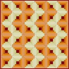 LogCabin  and other popular blocks with lot of great variations on putting together a quilt