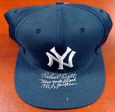 84c3da59f13 Robert Scott Autographed NY Yankees Hat New York Black Yankees 1946-50  PSA DNA