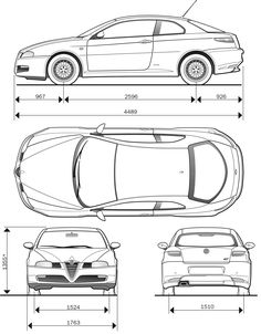 Alfa Romeo GT blueprint