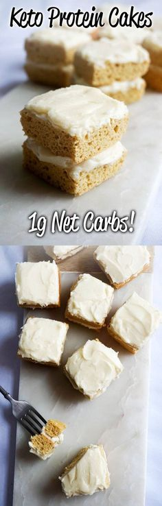 Protein Cake! High fat and low carb keto protein cakes that clock in at just 1g Net Carbs each! And they actually taste delicious too - give them a try!