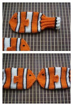 Nemo Mittens Free Knitting Pattern