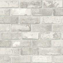 vtwonen vliesbehang Bricks lichtgrijs (dessin 2234-04)