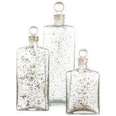 Arteriors Georgia Decanter Set of 3 ($432) ❤ liked on Polyvore featuring home, home decor, decor, filler and accessories