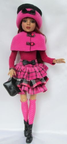 """LIZETTES, """"IN THE PINK FOR FALL!"""" for Ellowyne Wilde, Etc. by ssdesigns via eBay, SOLD 11/8/14  $76.99"""