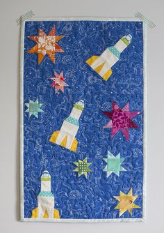 Rocket quilt with wonky stars | 318 Patchwork Patterns : Fresh Lemons Quilts